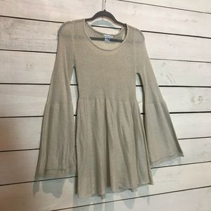 Bell sleeve sweater tunic/dress